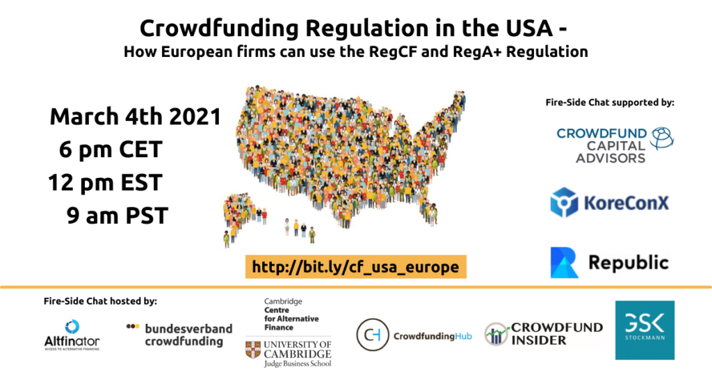 European Companies Crowdfunding in the USA.